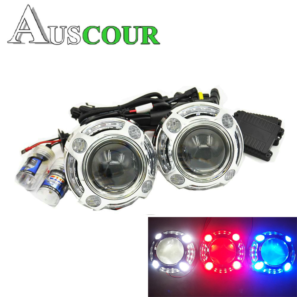 2.5inch bixenon Projector lens with DRL day running angel eyes angel eyes hid xenon kit H1 H4 H7 hid projector lens headlight 2 5inch bixenon projector lens with drl day running angel eyes angel eyes hid xenon kit h1 h4 h7 hid projector lens headlight