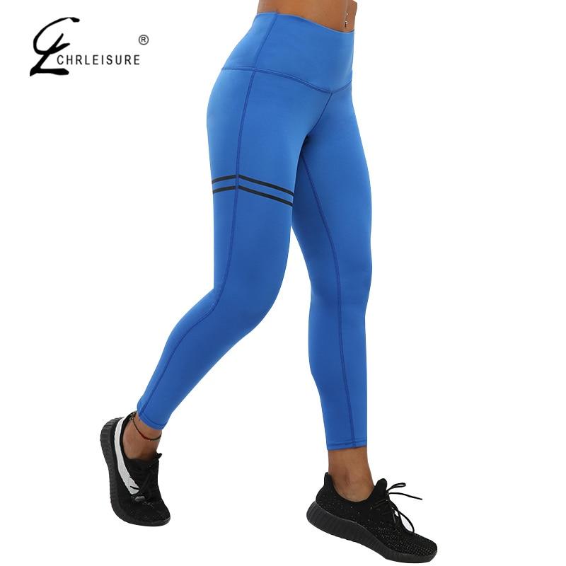CHRLEISURE Leggings mujeres de cintura alta Leggings Sexy Push Up Legging poliéster Activewear Bodybuilding Jeggings