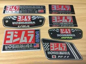 3D Aluminum Heat-resistant Aluminium Motorcycle Exhaust Pipes Decal Sticker For Scorpio Yoshimura Sticker(China)