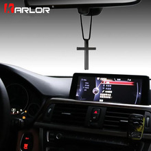 Cross 3 Colors Wow Car Auto Fashion Pendant Interior Jesus Religious Rear View Mirror Ornament Hanging Dangle Charm Car Styling