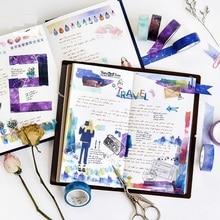8 pcs Starry star washi tape set  Decoration masking tapes 15mm stickers scrapbooking frame album DIY Stationery FJ909