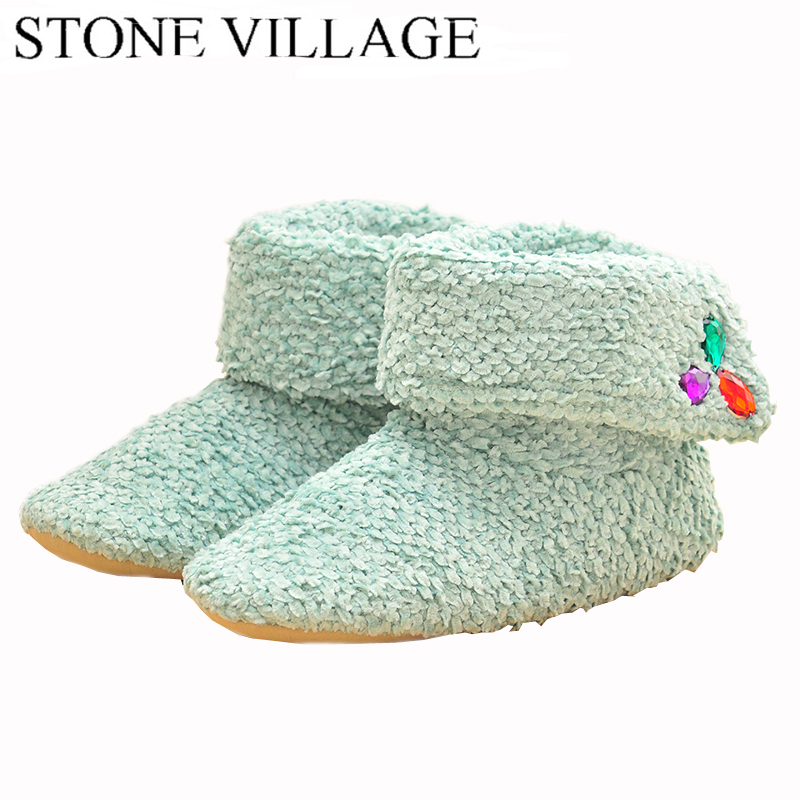 Superior Quality Wool Home Slippers 2017 New Korea Style Print Plush Warm Winter Women Slippers Indoor Slippers Women Shoes