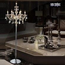 Модный Современный хрустальный напольный светильник гостиная огни спальня лампы кристалл французский современный стенд Огни Кристалл Abajur cristal