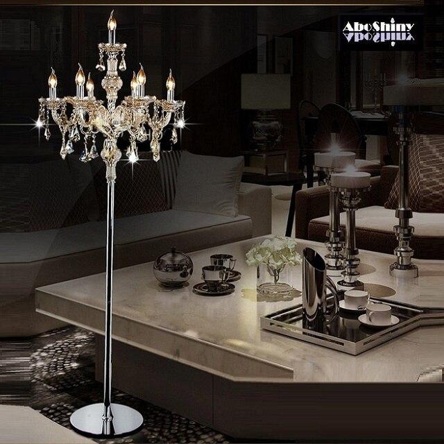 Moda cristallo moderna lampada da Terra luci soggiorno camera da ...