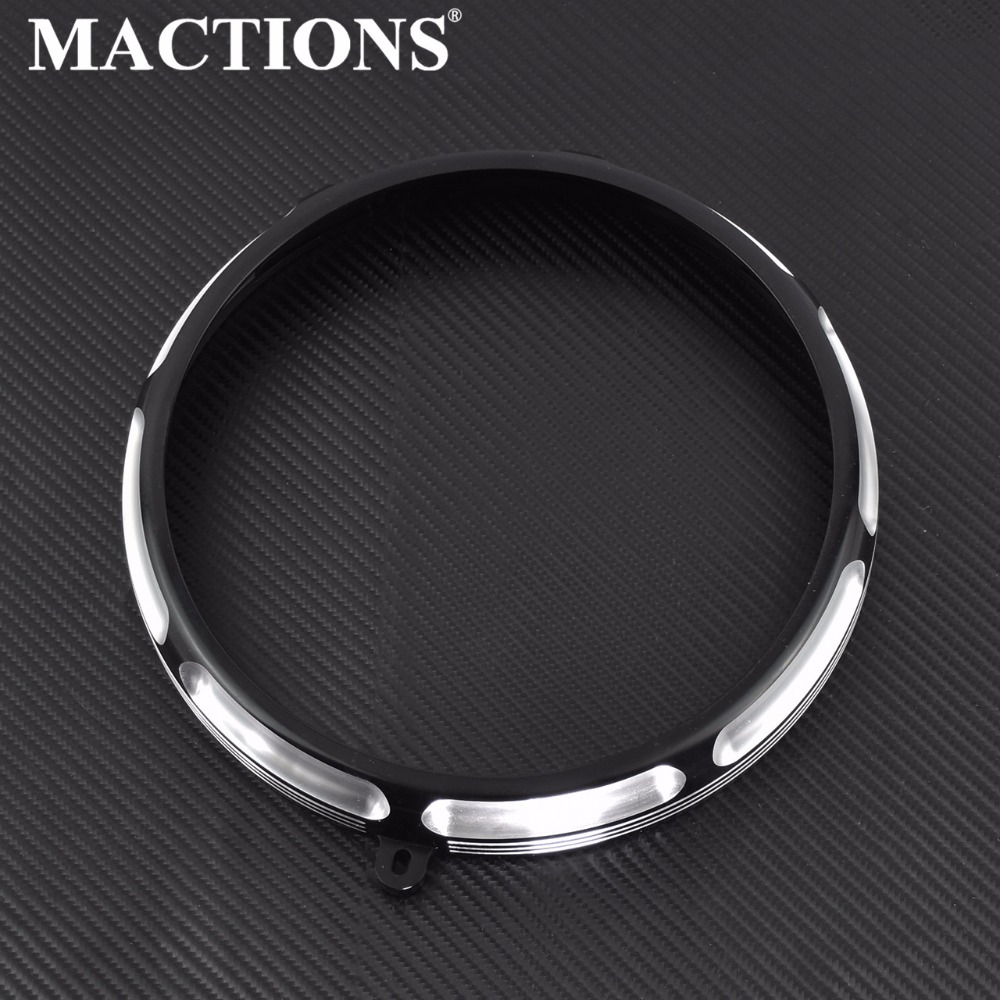 Motorcycle 7 Headlamp Trim Ring For Harley Dyna Fat Boy Headlight Trim Cover For Harley Heritage