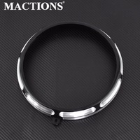Motorcycle 7'' Headlamp Trim Ring For Harley Dyna Fat Boy Headlight Trim Cover For Harley Heritage Softail Slim FLST Deluxe