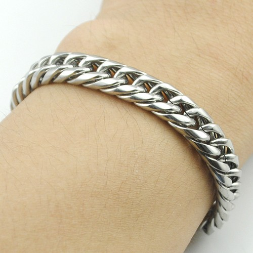 Boy's Men's Stainless Steel Link Chain Bracelet 16 Fashion Jewellery, Wholesale Free shipping, HB027 9