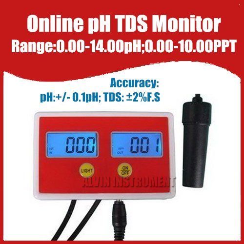 Free Shipping Aquarium Online PH / TDS Monitor ph meter tds meter tester 0-14ph  0.00-10.00PPT buy monitor cable online india