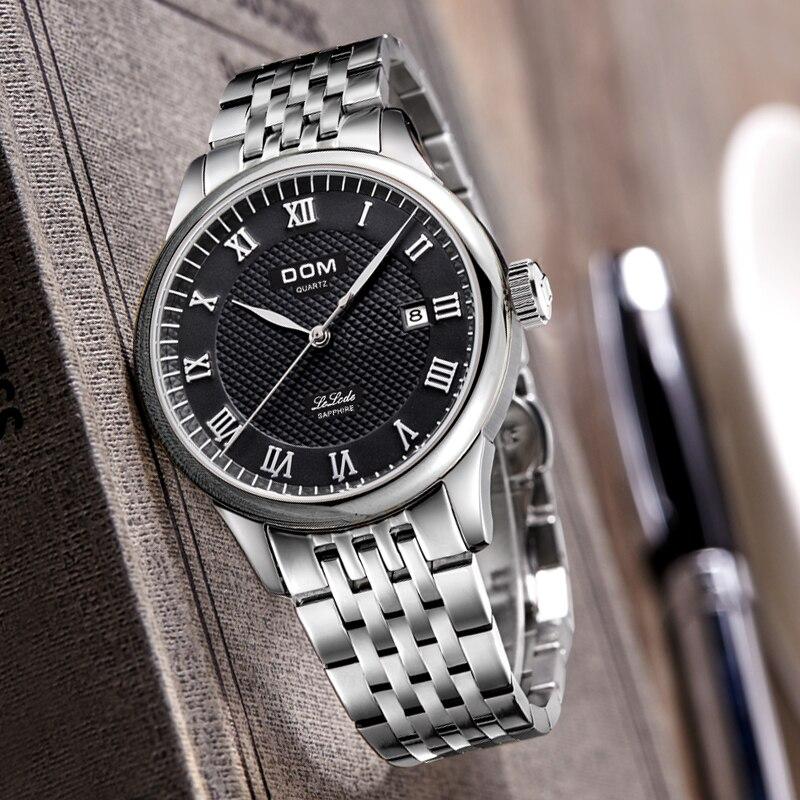 DOM Mode Heren Horloges Topmerk Luxe Quartz Horloge Heren Casual - Herenhorloges - Foto 5