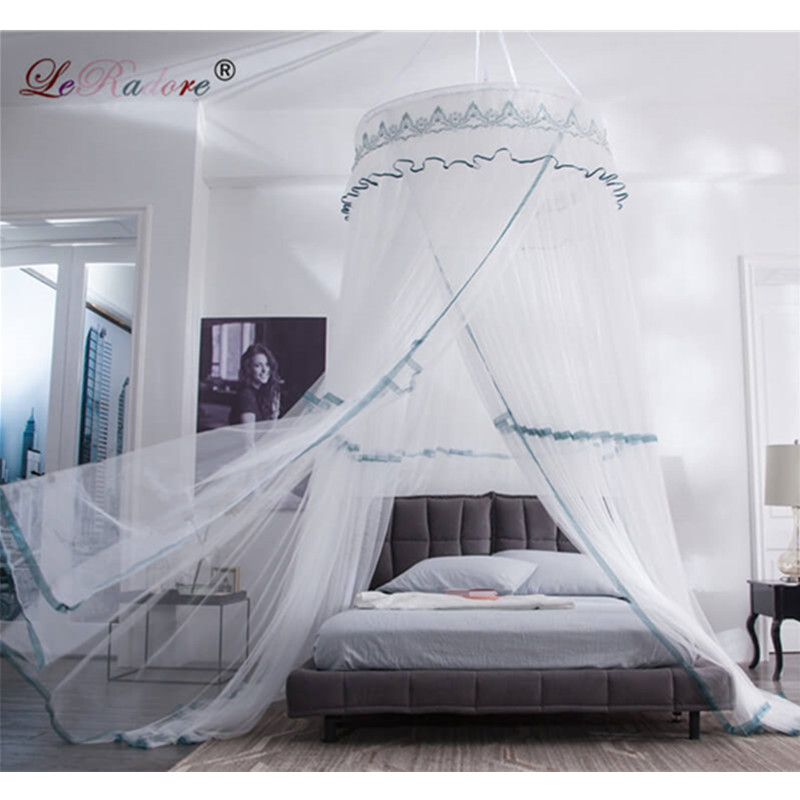 LeRadore New Fashion Insect Bed Canopy Netting Curtain Luxury Romantic Mosquito Net Single Door Round Dome Mosquito Nets Bedding