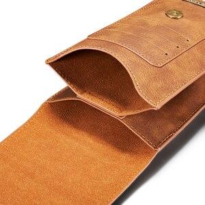Image 2 - Multifunktions 5.2 ~ 6.5 Leder Telefon Beutel Taschen Haken Schleife Gürtel Clip Fall für Samsung Hinweis 10 9 8 brieftasche Taschen für iPhone 11 XR