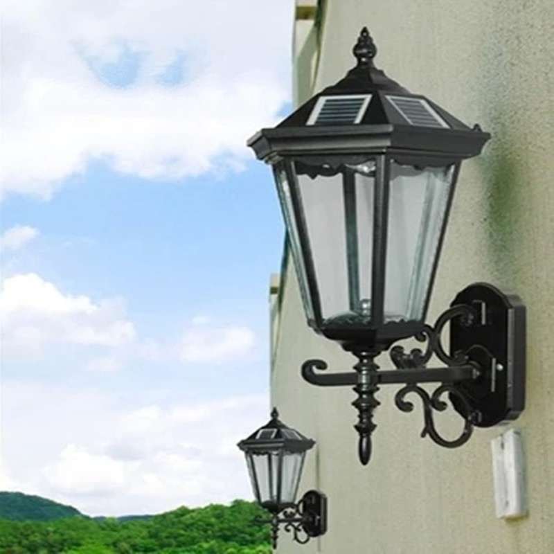Super Bright LED Solar Waterproof Lamps Outdoor Gate Garden Balcony Corridor Fence Wall Lawn Cottage Courtyard Decorative Lights waterproof outdoor decorative led solar garden lights courtyard panel lamp