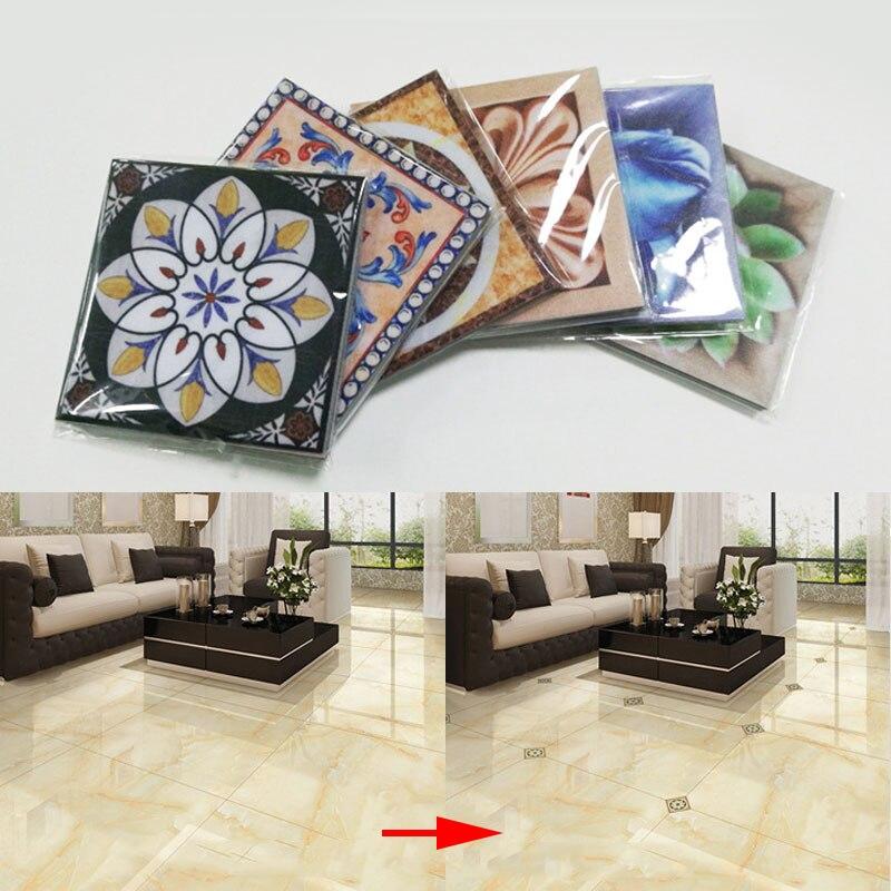 10 Teilesatz Pvc Wasserdichte Wc Wohnzimmer Schlafzimmer Boden Aufkleber 3d Keramik Fliesen Aufkleber Diy Dekoration J2y