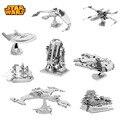 Venda quente Brinquedos Puzzle Maquetas de Star Wars De Metal Modelos Em Escala do Edifício Kits 3D Puzzle Brinquedos DIY Metallic Nano