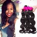 Reina brasileña del pelo de Remy body wave 9A Grado Brasileño de la Virgen Onda del Cuerpo del pelo 4 Manojos de cabello virgen armadura Del Pelo Humano extensiones
