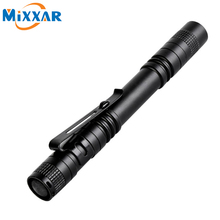 Nzk50 Pen Light Portable Mini LED Flashlight Torch CREE XPE-R3 Flash Light 300LM Hunting Camping Lamp By 2xAAA battery