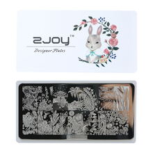 High Quality NEW ZJOY Rectangle Nail Stamping Plates Template Beautiful Design Manicure Art Stamp Image Plate