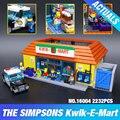 Nueva LEPIN 16004 2232 Unids Simpson KWIK-E-MART Modelo set Kits de Edificio Modelo Compatible Con 71016