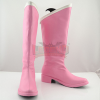 Sailor Moon ChibiUsa shoes Custom made costume any size female cosplay shoes pink boots