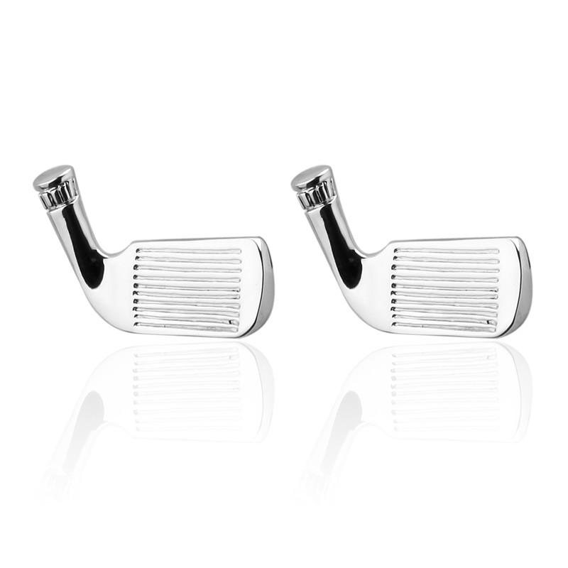 Luxury Men Silver Golf Cufflinks High Quality Lawyer Fathers Day gift Cufflinks For Mens Shirt Cuff Links French Jewelry