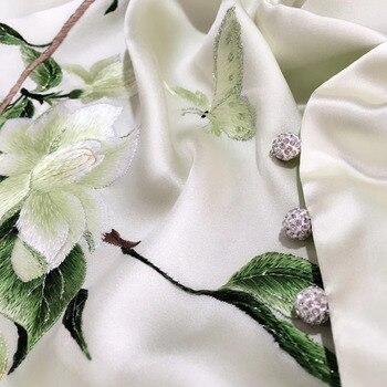 Silk high-grade silk embroidery scarf women silk silk silk embroidered shawl for ladies silk scarf gift 1pc=1order фото