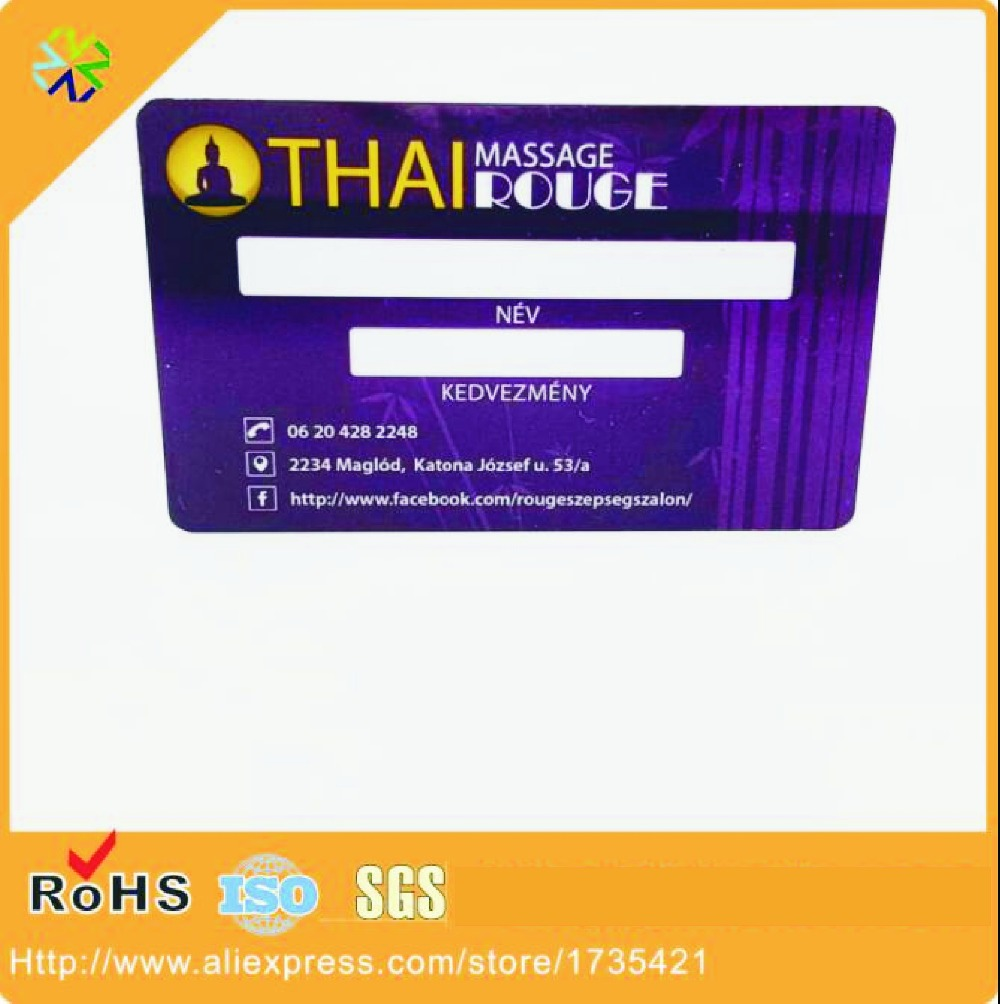 (1000pcs/lot)Plastic PVC Business ID Card Printing
