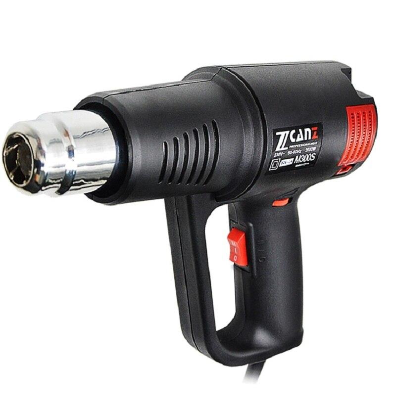 Pistolet à Air chaud affichage numérique pistolet de cuisson de Film de voiture de chauffage portatif
