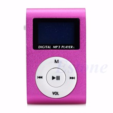 OOTDTY Mini USB Clip MP3 Music Player LCD Screen Support 16GB Micro SD TF Card цена