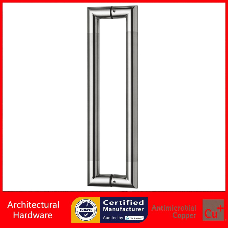 304 Grade Stainless Steel Pull Handle Entrance Door Handles For Entry/Front/Store/Shop Wooden/Frame/Glass Doors PA-124-25*450mm antimicrobial black solid nylon offset door pull handle for entrance glass wooden metal frame doors pa 797