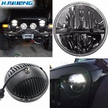 36w For Lada 4x4 urban Niva 7Inch LED Projector Headlights 7 Headlamps with H4 to H13 Adapter for Jeep Wrangler