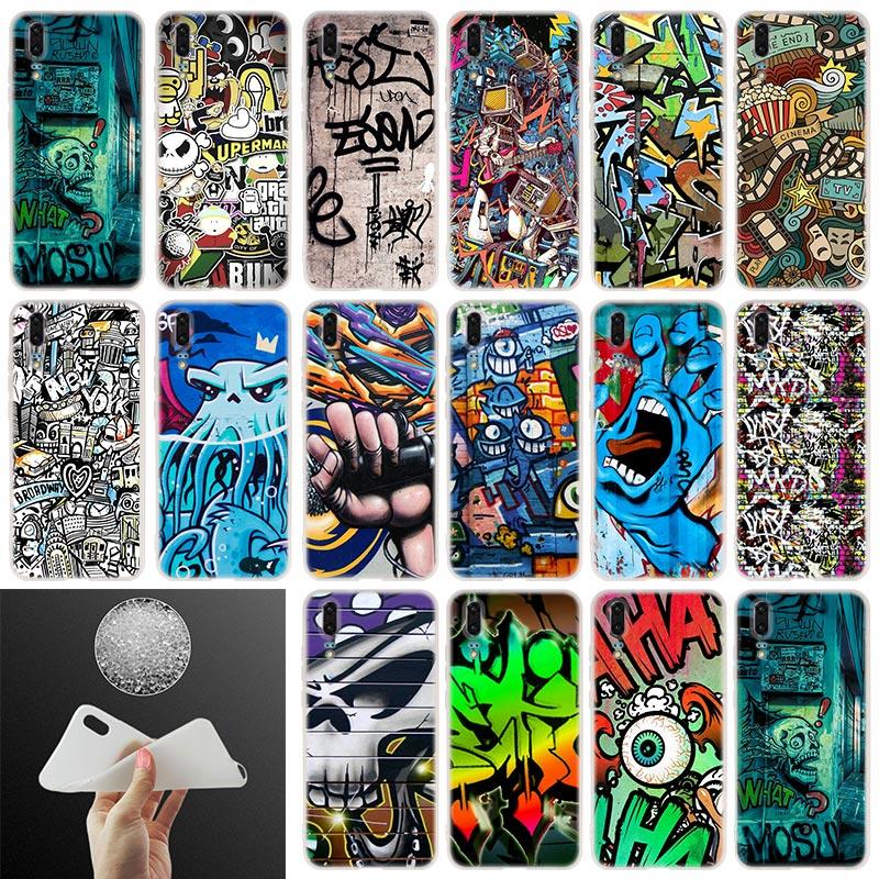 Soft Silicone Phone Case graffiti wallpaper For Huawei P30 P20 P30Pro P10  P9 P8 Plus Lite 2017 P samrt 2019 Cover