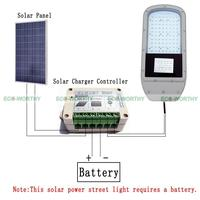 40W Solar LED Street Light System Kit 2 Pcs 100W PV Solar Panel For Garden Parking