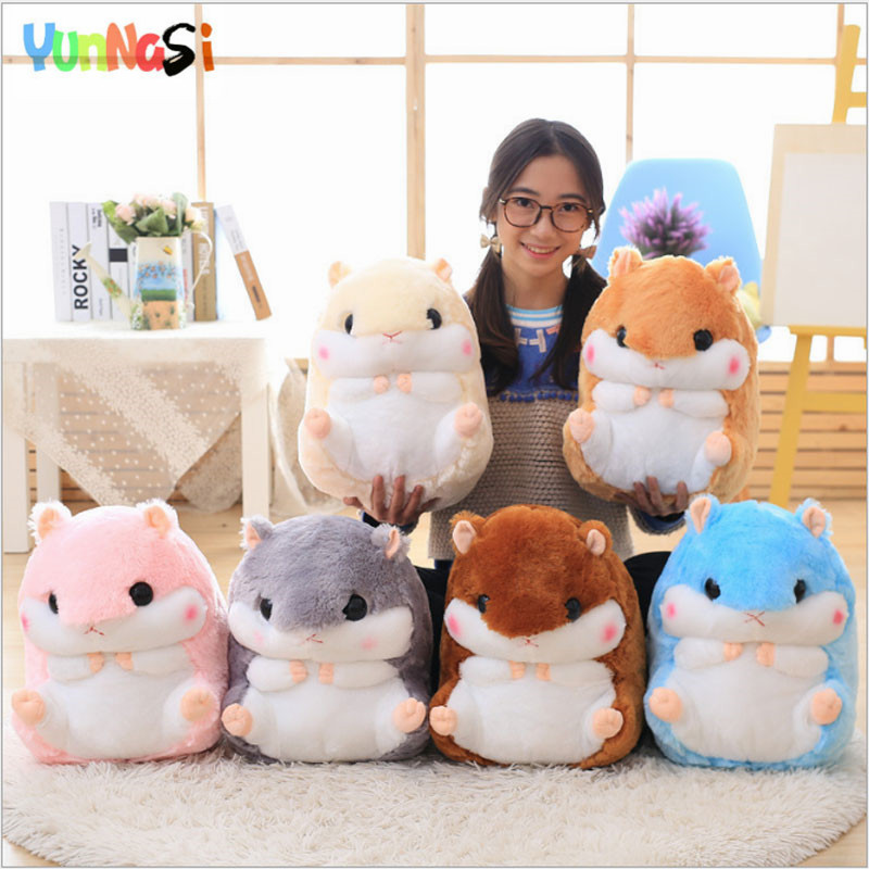 YunNasi Plush Hamster Pillow With Blanket Stuffed Toys Soft Animal Doll For Children Gifts Squishy Kids Toys For Girls Carpet картридж xerox 006r01461 black для workcentre 7120 7125 22000стр