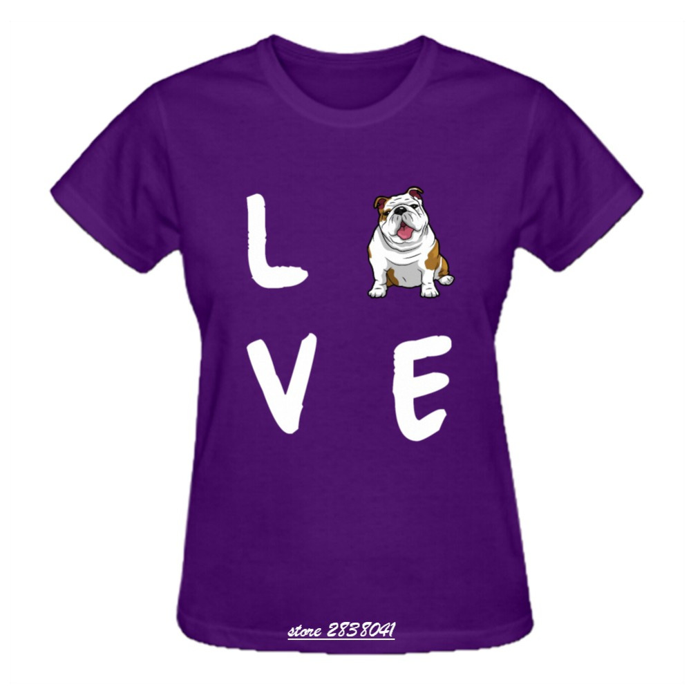 Rttmall funny graphic femme dog pets print t shirts screw T shirts for english bulldogs