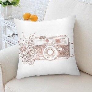 Image 3 - 홈 decortion 로즈 골드 베개 케이스 기하학 dreamlike 베개 폴리 에스터 던져 베개 커버