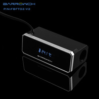 black silver FBFT02 V2 BARROWCH Black / Silver Water temperature digital display screen pc watercooling gadget OLED thermometer free shipping (3)