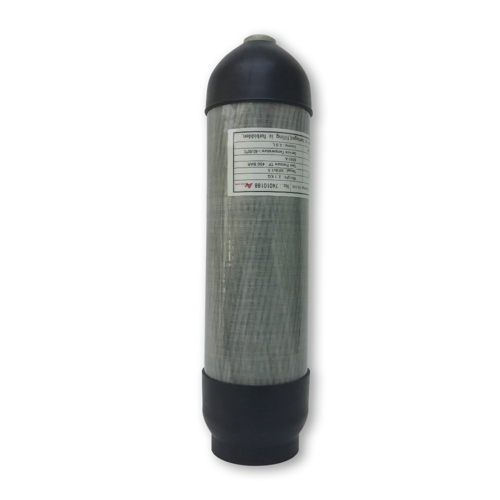 AC10391 3L 30Mpa Pcp CE Carbon Fiber Tank Cylinder High Pressure Scuba Tank Scuba Pcp Mini Scuba Diving Cylinder Compressed Air
