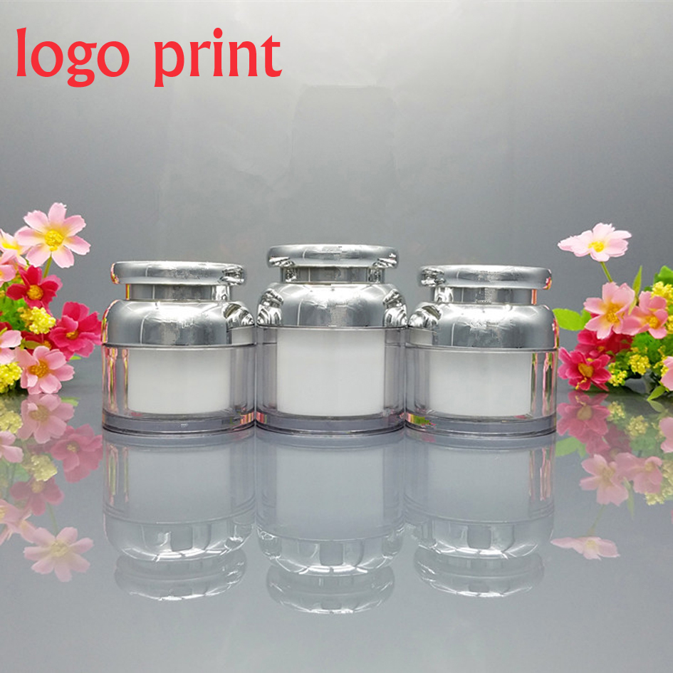 50pcs lot 30g 50g Cosmetic Container Cube Acrylic Jar Clear Cream Pot Makeup Sample Jars empty