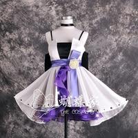 Hot Anime Vocaloid Cosplay Costume Camellia White Lolita Dress Haku Cosplay Costume New