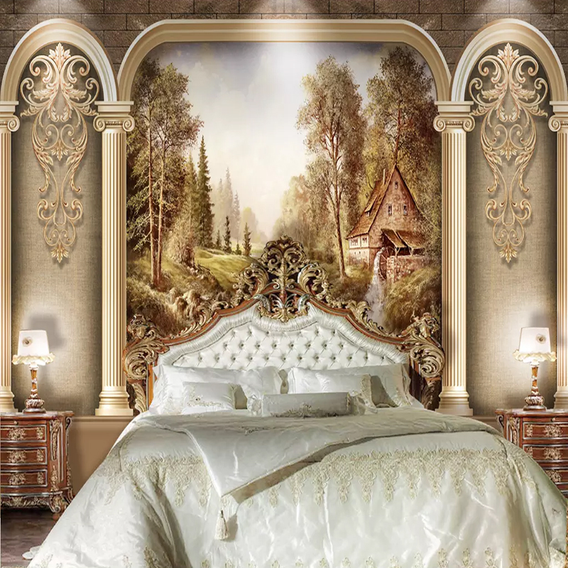 European Roman Column Art Retro Photo Wall Mural Wallpapers Roll 3D Abstract Living Room Bedroom Background Wall Covering Fresco