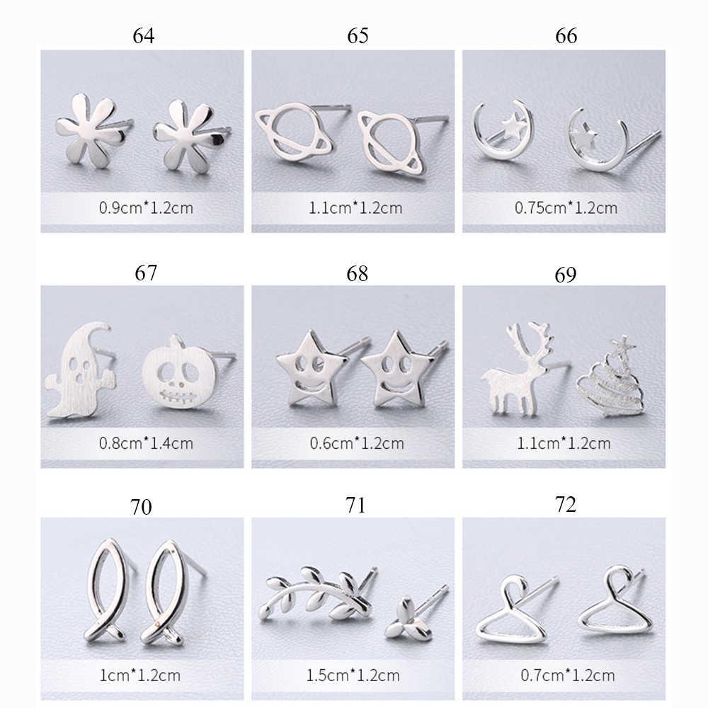 XIYANIKE Venta caliente lindo Animal Stud pendientes 925 plata esterlina oreja aguja Simple moda geometría pendientes para mujer regalo 55 -72
