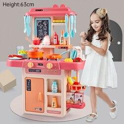 С функцией водопроводного крана, большой размер, кухня, пластиковая игрушка для ролевых игр, Детская кухня, игрушка для приготовления пищи, ...