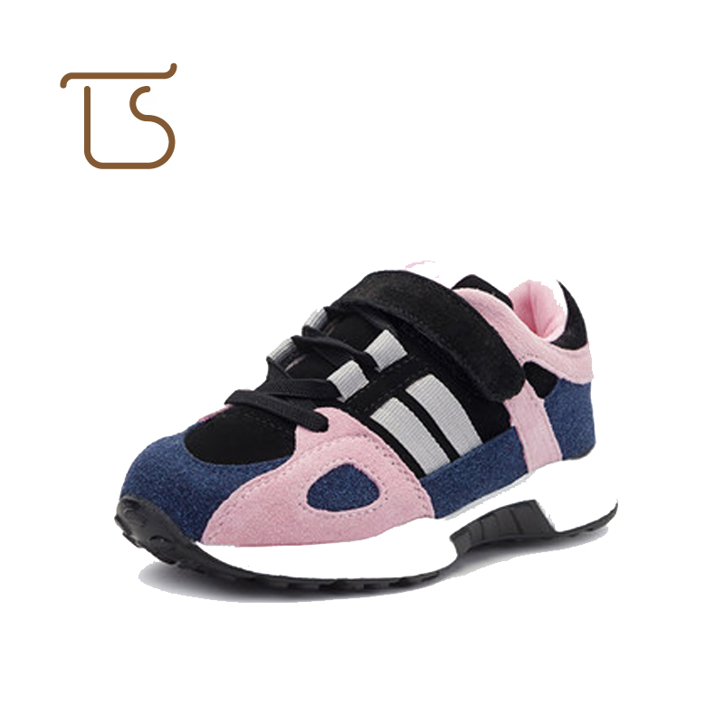 T.S. kids shoes 2017 NEW genuine leather sports shoes children running shoes boys girls hook loop casual sneakers dinoskulls new kids sport shoes children sneakers breathable leather boy running shoes 2018 girls leisure casual shoes