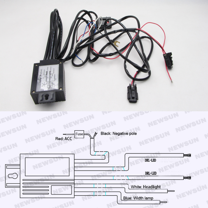 car 12v led wiring diagram aliexpress com buy universal 12v car led drl controller