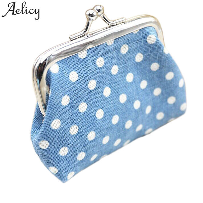 Aelicy 2018  Cheap Price Cute Women Ladies Small Mini Coin Purse Dots Print Hasp Wallet Card Holder Girls Handbag Bag CarteiraAelicy 2018  Cheap Price Cute Women Ladies Small Mini Coin Purse Dots Print Hasp Wallet Card Holder Girls Handbag Bag Carteira
