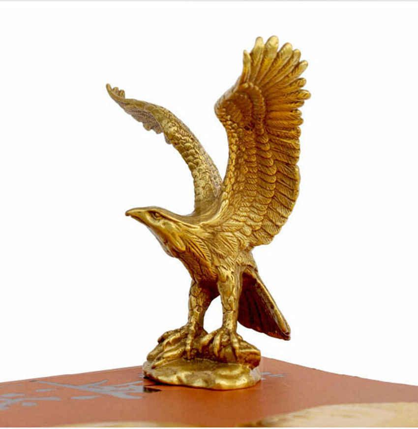 """Китайская бронза латунная статуя Орел/ястреб фигурка 4,5 """"Высокая"""
