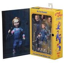 """NECA Childs zagraj w dobrych facetów Ultimate Chucky PVC figurka Model kolekcjonerski Toy 4 """"10cm"""
