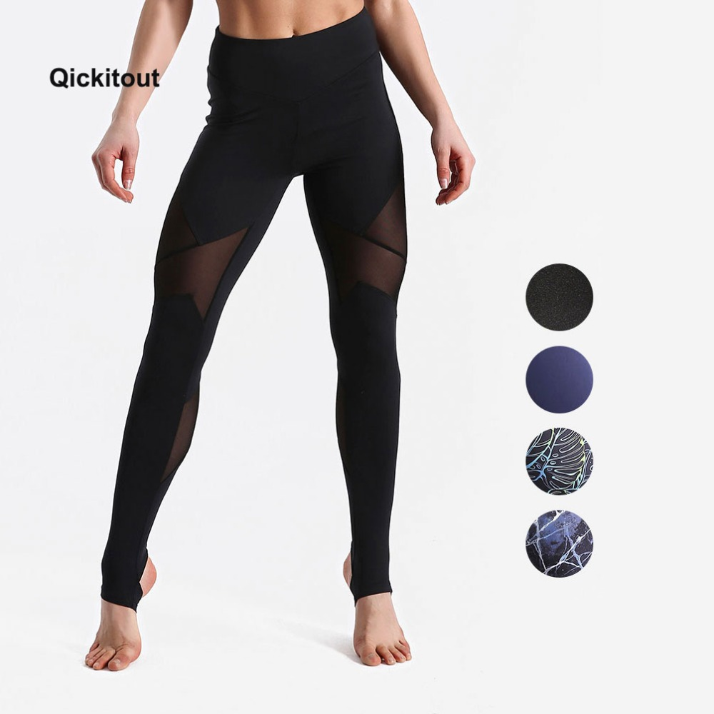 Qickitout Sexy 4 Colors Fashion Slim Mesh Pants Women Hips Ladies   Legging   Push Up High Waist   leggings   XS-XL