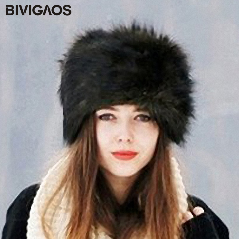 BIVIGAOS 2017 New Fashion Womens Beanie Fake Mink Fur Hat Winter Warm Faux  Fur Cap Fox Fur Hat Plush Hats Beanies For Women d59d1e3315c