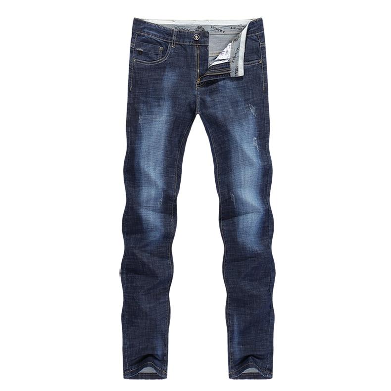 KSTUN Men Jeans Famous Brand 2019 Slim Straight Business Casual Dark Blue Thin Elasticity Cotton Denim Pants Trousers pantalon 11